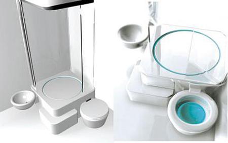Ducha inodoro y lavabo todo en uno aqua for Cuanto cuesta un lavabo