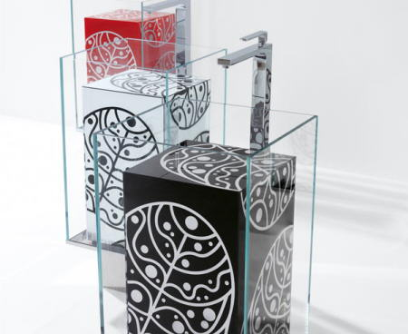 Lavabos de dise o cristal porcelana y dibujos con color aqua - Diseno de lavabos ...