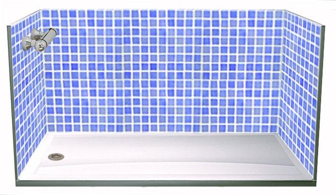 Cambiar la ba era en 24 horas con paneles de ducha - Baldosas gresite para banos ...