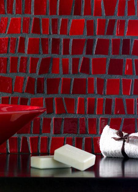 Gresite con azulejos en la decoración del cuarto de baño - aqua