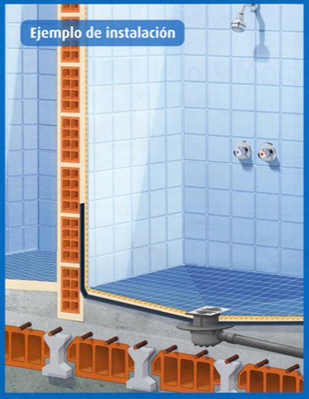 Plato de ducha antideslizante a ras de suelo aqua - Duchas a ras de suelo ...