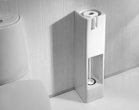 Accesorios de porcelana simples para el cuarto de ba o aqua for Accesorios cuarto de bano roca