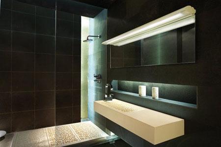 Luminaria perfecta de b lux para el espejo del ba o aqua - Lamparas cuarto de bano ...