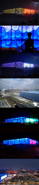 M s fotos de la piscina olimpica de pek n 2008 aqua for Piscina olimpica castellon