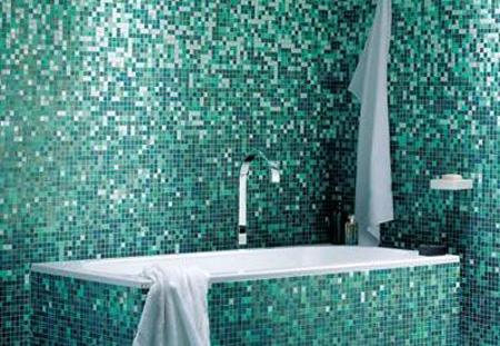 Baños decorados con gresite - aqua