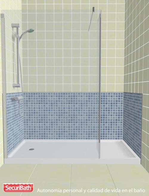 Cambiar la ba era por una ducha antideslizante ofrece for Cambiar baldosas bano