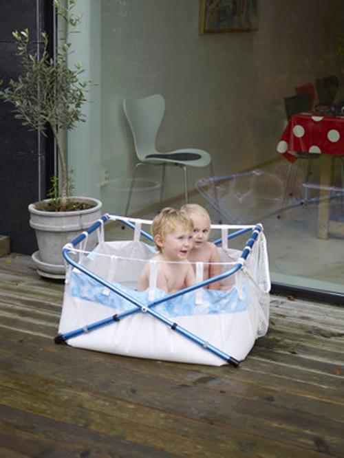 Guarda Juguetes Baño: en la lavadora a 60 grados y una bolsa exterior para guarda juguetes