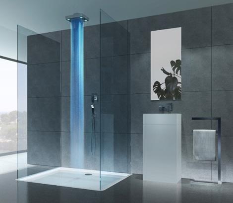 drops lighted shower lujosa ducha con cromoterapia aqua. Black Bedroom Furniture Sets. Home Design Ideas