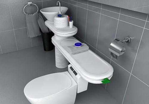 ecobath lavabo inodoro que reutiliza el agua