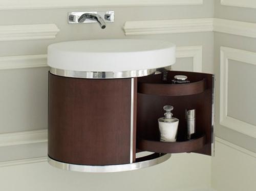 Lavabos Para Baño Kohler:estos muebles strela de kohler la suave curva de este mueble tiene un