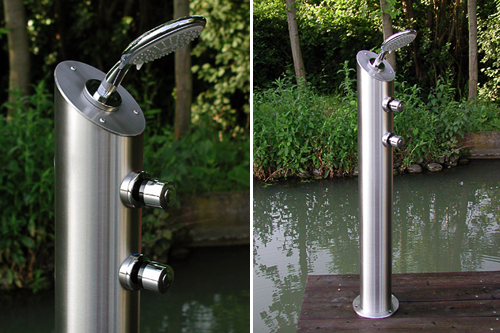 Ducha para el exterior aqua for Duchas para piscinas exterior