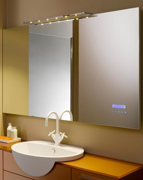 Espejo divertido para el cuarto de baño - aqua