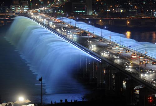 fuente puente banpo en seul