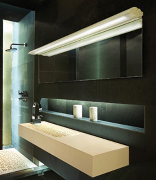 Iluminacion Baño Moderno:La iluminación es muy importante en el cuarto de baño ya que es