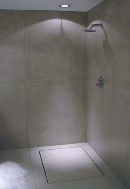 Baño Microcemento Alisado:Al no necesitar juntas, es ideal para aplicarlo tanto en el suelo como