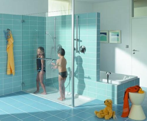 La ducha un gran momento de diversi n infantil aqua - Como hacer una mampara ...