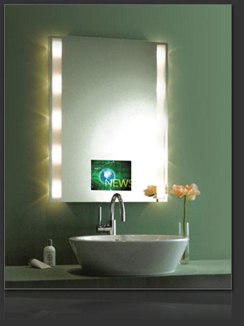 Un espejo con televisión integrada - aqua