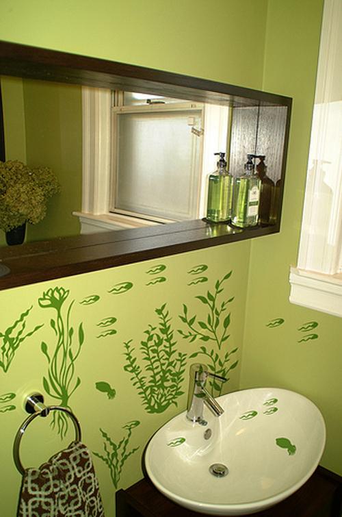 Decoraci n con vinilo para los ba os aqua for Vinilos para paredes de banos