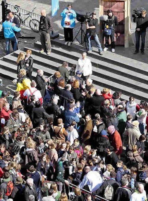 756 personas esperando para ir al baño en Bruselas