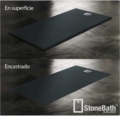Stonebath plato de ducha a ras de suelo aqua - Suelo antideslizante ducha ...