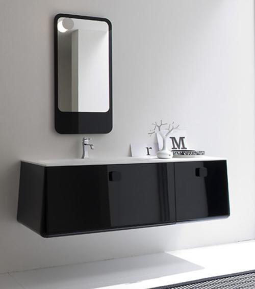 Ba os a tu espacio y estilo aqua for Bano de color negro
