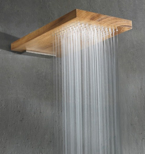 ducha de madera