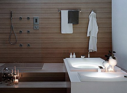 Decoración de estilo japonés bañeras retroiluminadas   aqua