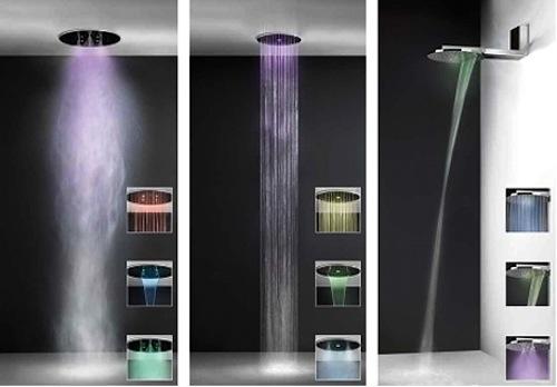 Nueva ducha de gessi con funciones inteligentes aqua for Ducha de lluvia techo
