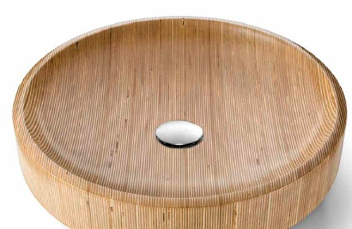 original lavabo de madera aqua