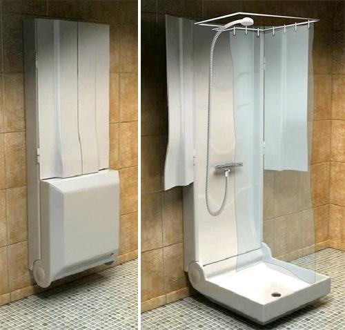 Ducha plegable para espacios peque os aqua - Armarios espacios pequenos ...