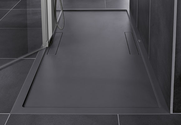 Platos de ducha extraplanos de cuarzo futurion flat for Platos de ducha antideslizantes roca