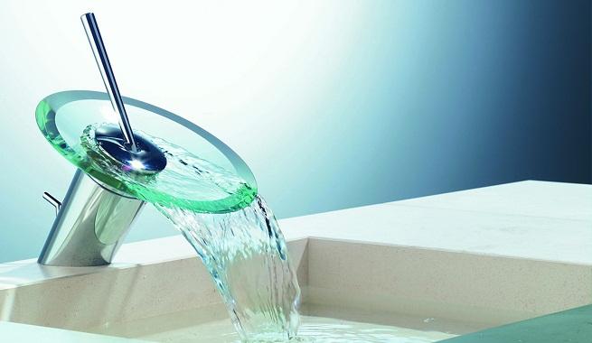 Lavabos Para Baños Cristal:Grifos de cristal para el cuarto de baño – aqua