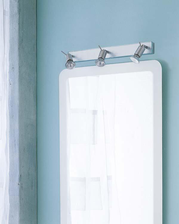Diferentes apliques para iluminar el espejo del ba o aqua - Iluminacion para espejos de bano ...