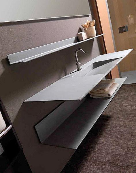 Nuevos materiales para el ba o lavabo de cemento aqua - Materiales para bano ...