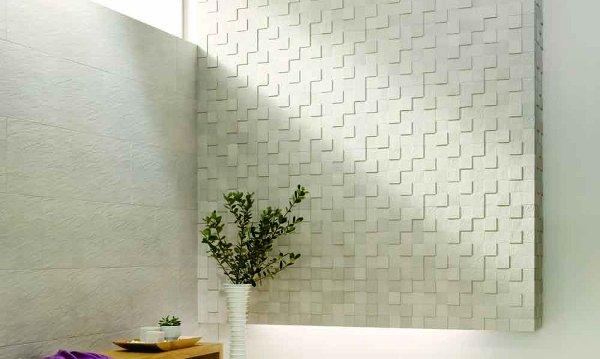 Nuevos materiales el el ba o azulejos hechos con restos - Que azulejos poner en el bano ...