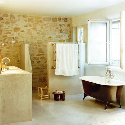 Posibles acabados para las paredes del ba o aqua - Paredes para banos ...