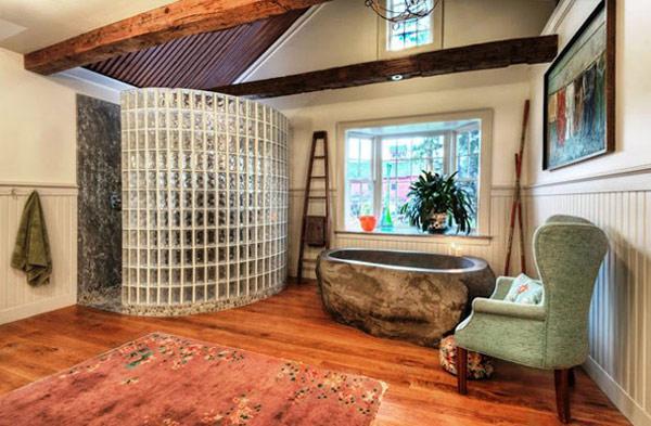Baños Rusticos En Piedra:Un toque rústico con esta bañera de piedra hecha a mano – aqua