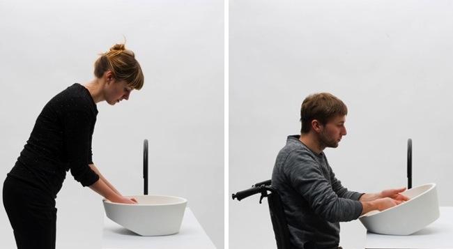 Eliminar las barreras arquitect nicas lavabo que se adapta a alturas aqua - Altura de lavabo ...