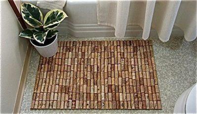 Reciclar-tapones-de-corcho-alfombra-de-bano