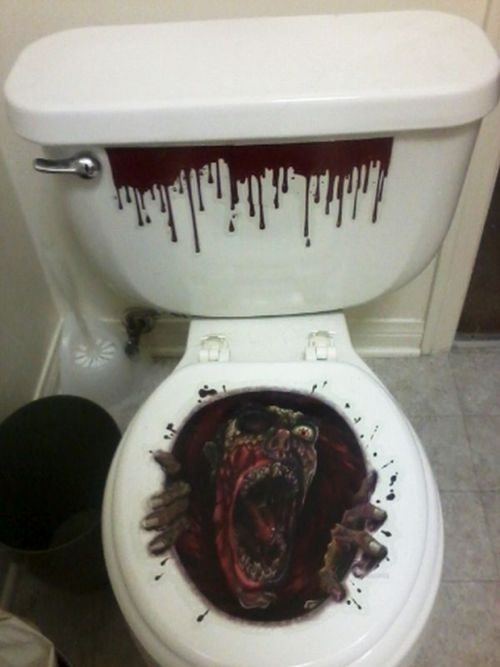 Ideas terror ficas para el ba o en halloween aqua - Pegatinas para mamparas de bano ...