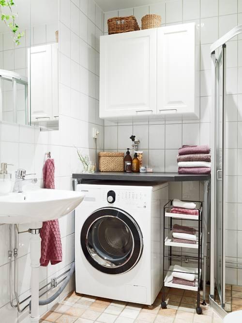 La lavadora en el baño...¿por qué no? - aqua