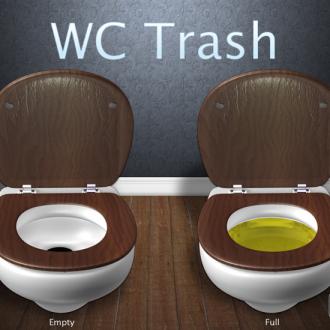 Cuidado con los que tiras por el wc