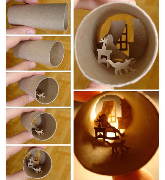 Arte en los ba os toilet roll art aqua - Arte en bano ...
