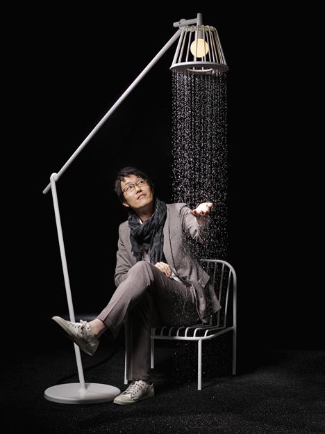 Lamparas Recicladas Para El Baño:El efecto de las gotas al caer bajo la luz de la lámpara convierte