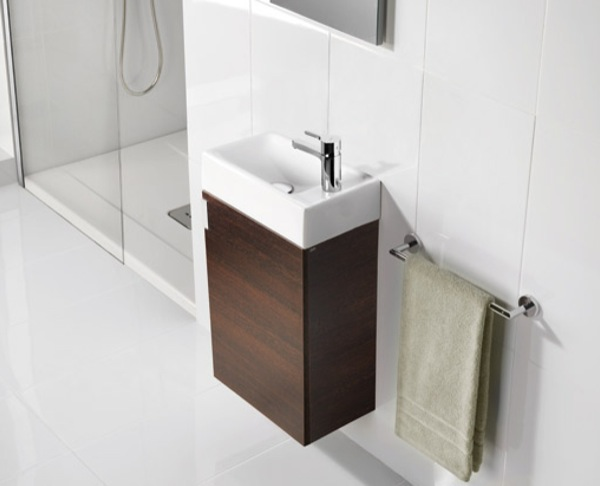 Petit un lavabo armario de dimensiones reducidas aqua - Armarios de pared para banos ...