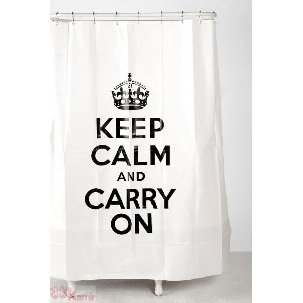 Cortinas De Baño Keep Calm:Keep calm se ha adaptado a todo tipo de situaciones, muchas de ellas