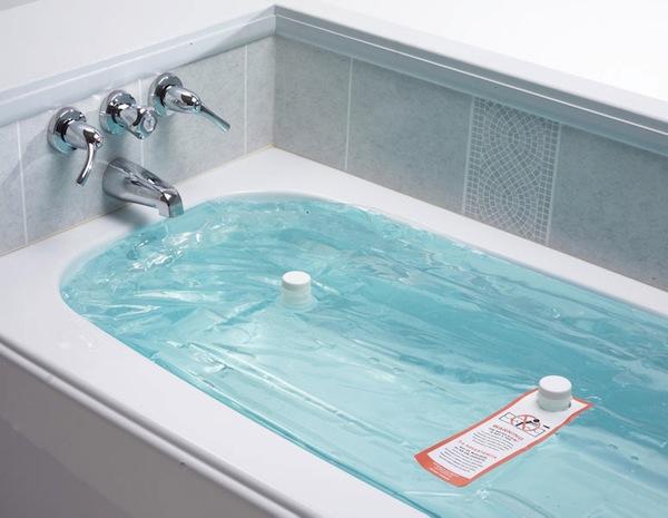 Convertir una bañera en un depósito de almacenamiento de agua