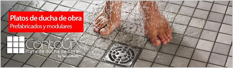 Ducha de obra baos de obra y bao pequeo con ducha de - Como hacer plato de ducha de obra ...