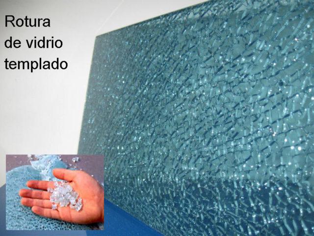 vidrio TEMPLADO ROTO composicion
