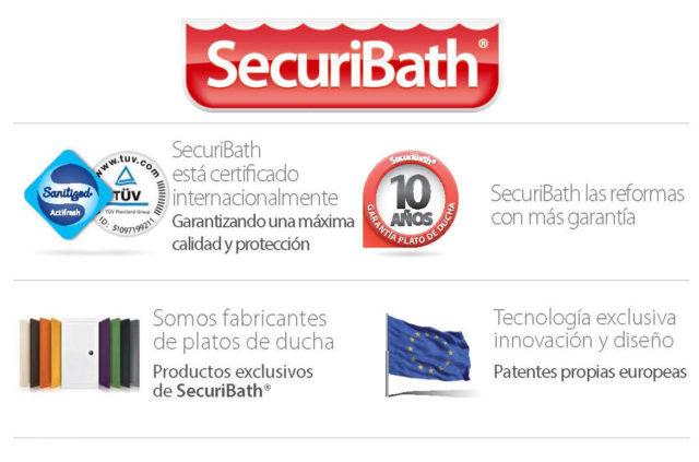 Qué mejoras tienen los platos de ducha de SecuriBath respecto a los demás